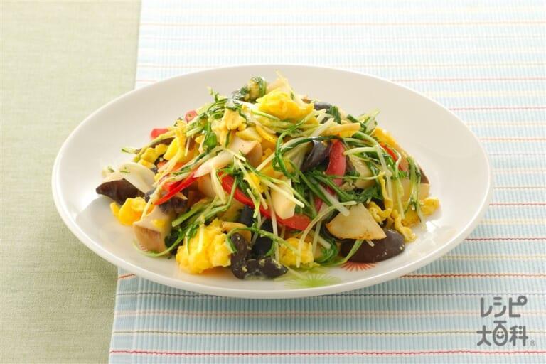 水菜と炒り卵の炒めもの
