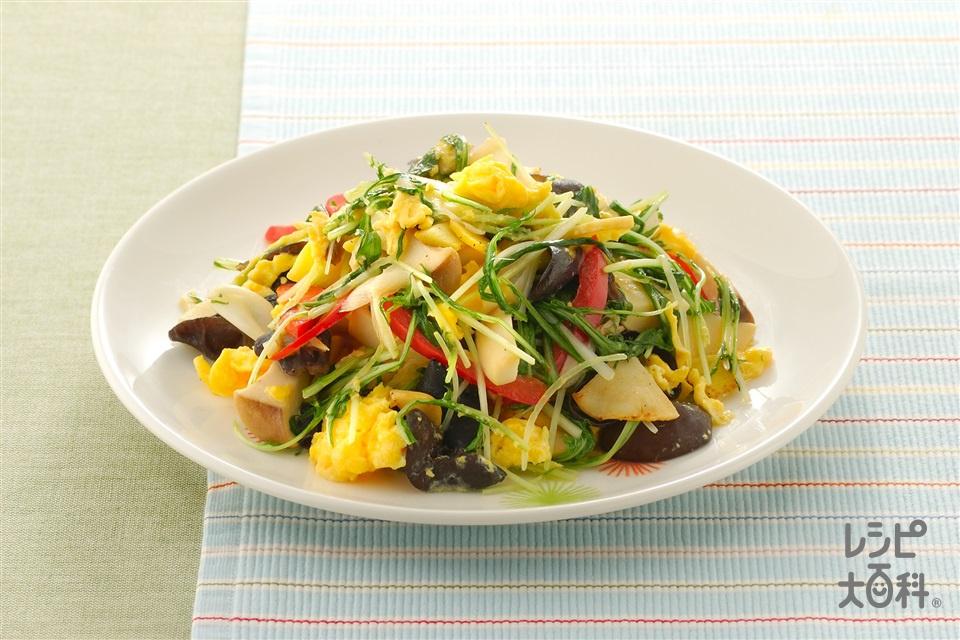 水菜と炒り卵の炒めもの(水菜+卵を使ったレシピ)