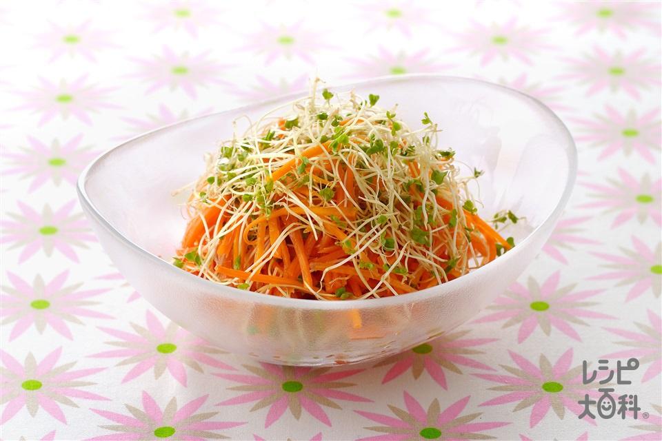 スプラウトとにんじんのサラダ(にんじん+スプラウトを使ったレシピ)
