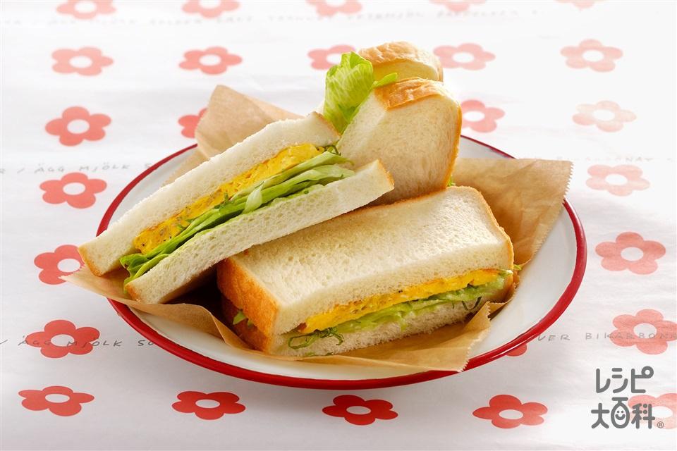 和風サンドイッチ(食パン8枚切り+「ピュアセレクト サラリア」を使ったレシピ)