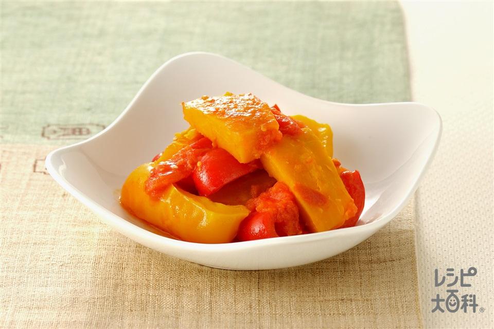 夏野菜の煮もの(かぼちゃ+トマトを使ったレシピ)