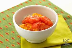 トマトの卵炒め丼