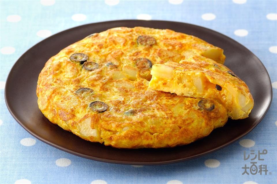 トルティーヤ(スペインオムレツ)(じゃがいも+卵を使ったレシピ)