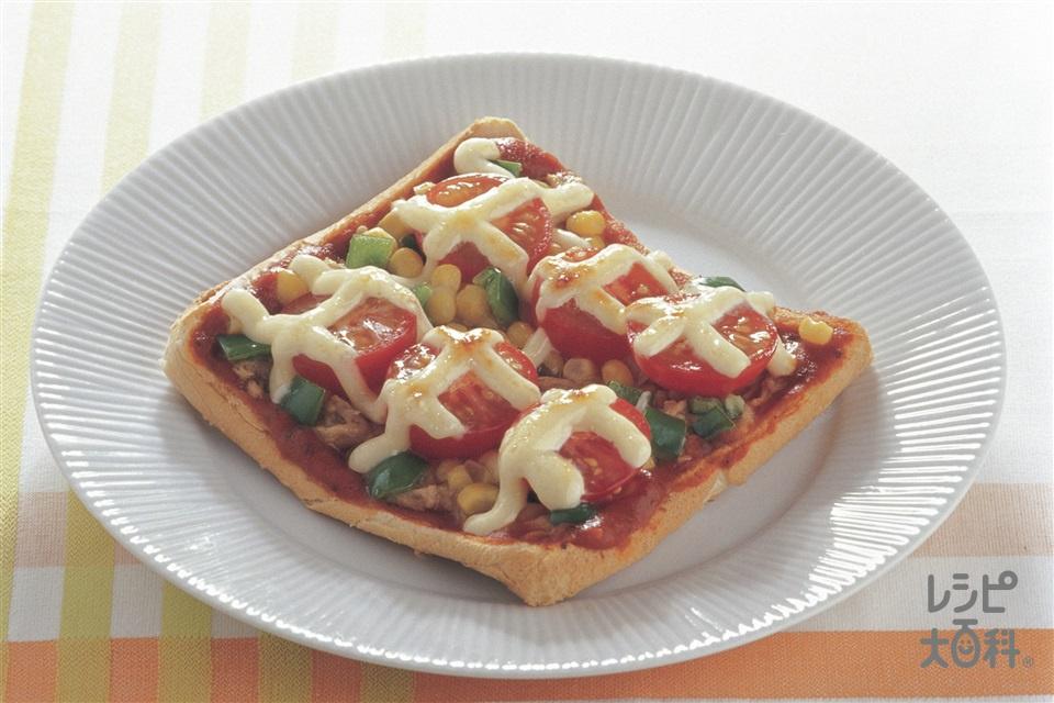 マヨピザ(食パン+ミニトマトを使ったレシピ)