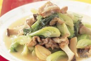 豚肉とチンゲン菜の炒めもの