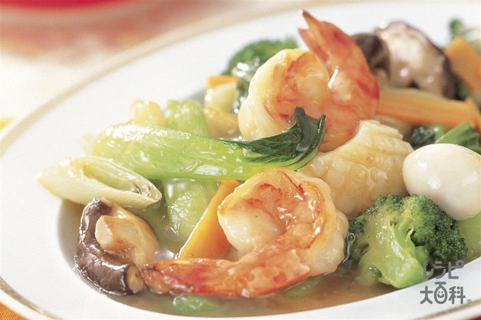 海鮮八宝菜(いか(胴)+チンゲン菜を使ったレシピ)