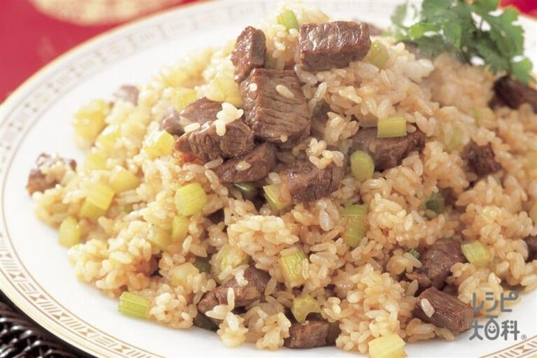 牛肉とセロリの炒飯
