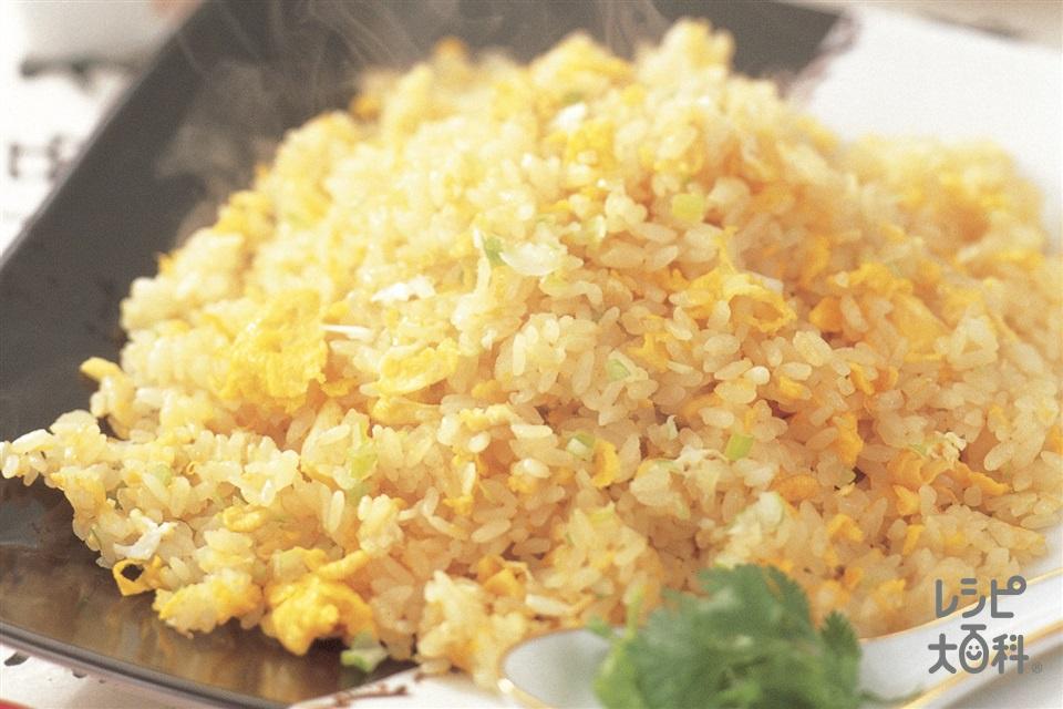 卵とねぎの炒飯(卵+ご飯を使ったレシピ)