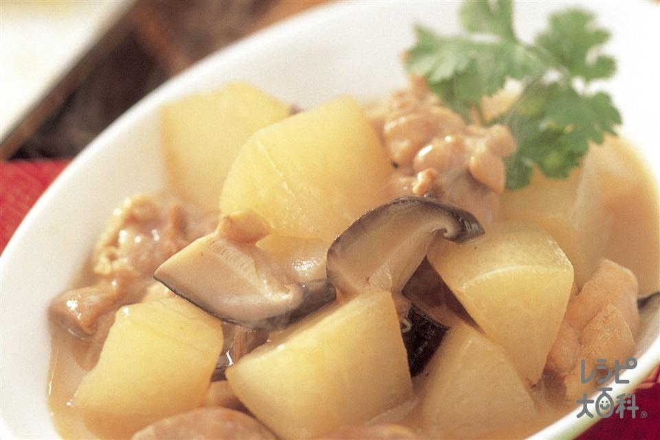 鶏肉と大根の煮もの(鶏もも肉+大根を使ったレシピ)