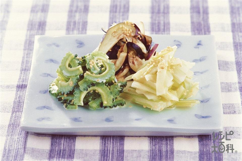 夏野菜の簡単ナムル(ゴーヤ+なすを使ったレシピ)