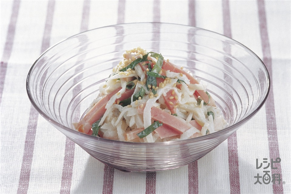 切り干し大根のサラダ(切り干し大根+ロースハムを使ったレシピ)