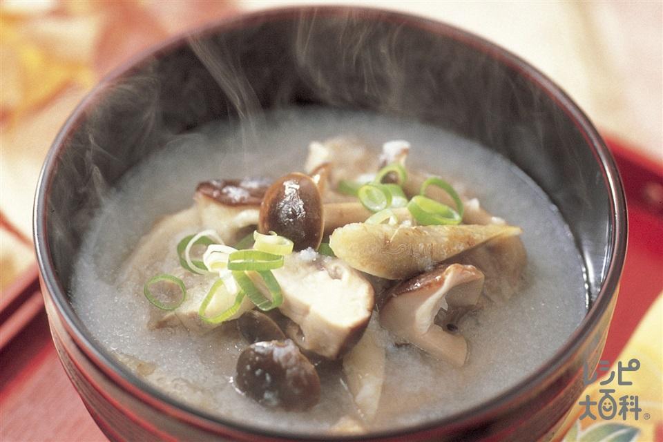 れんこんすりおろし椀(れんこん+豚こま切れ肉を使ったレシピ)