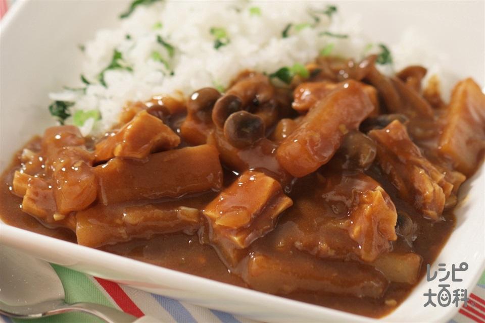 たっぷり大根の野菜カレー(大根+しめじを使ったレシピ)