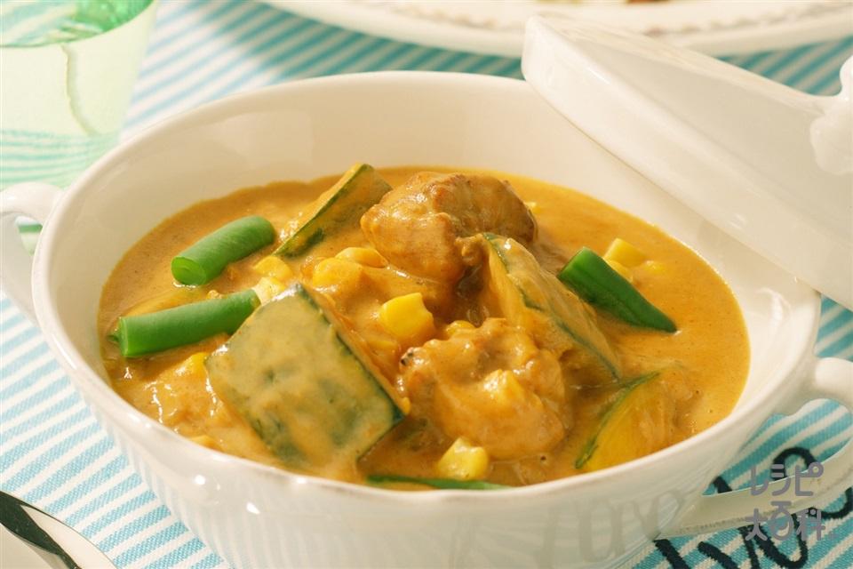 鶏肉のパンプキンカレー(鶏もも肉+カレー粉を使ったレシピ)