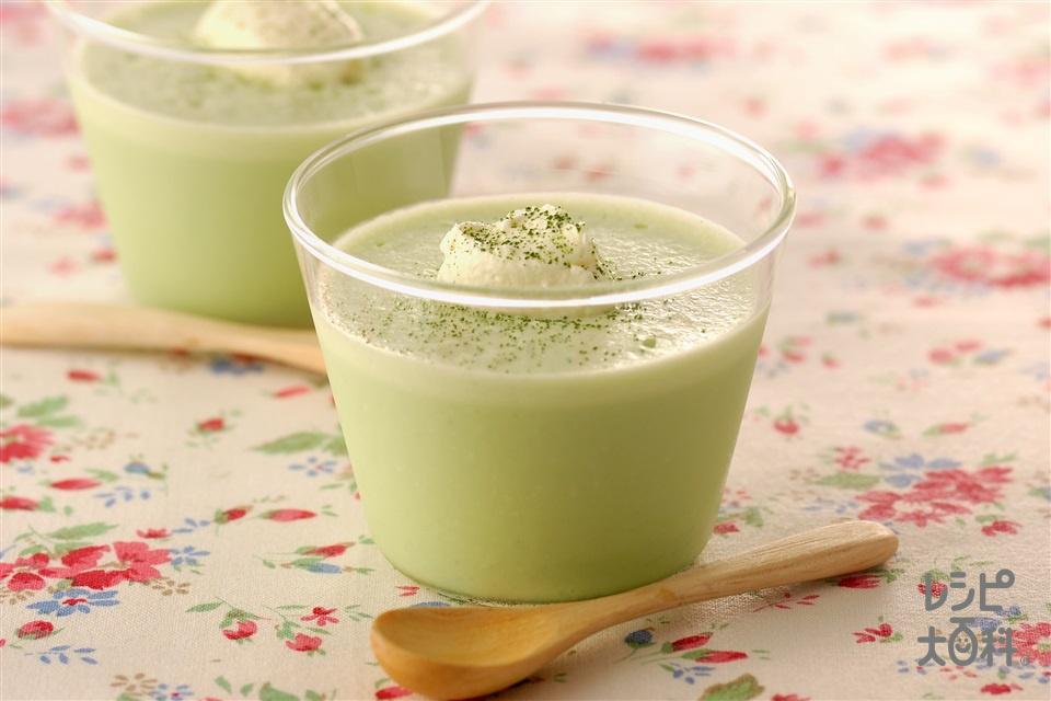 抹茶ムース(牛乳+生クリームを使ったレシピ)