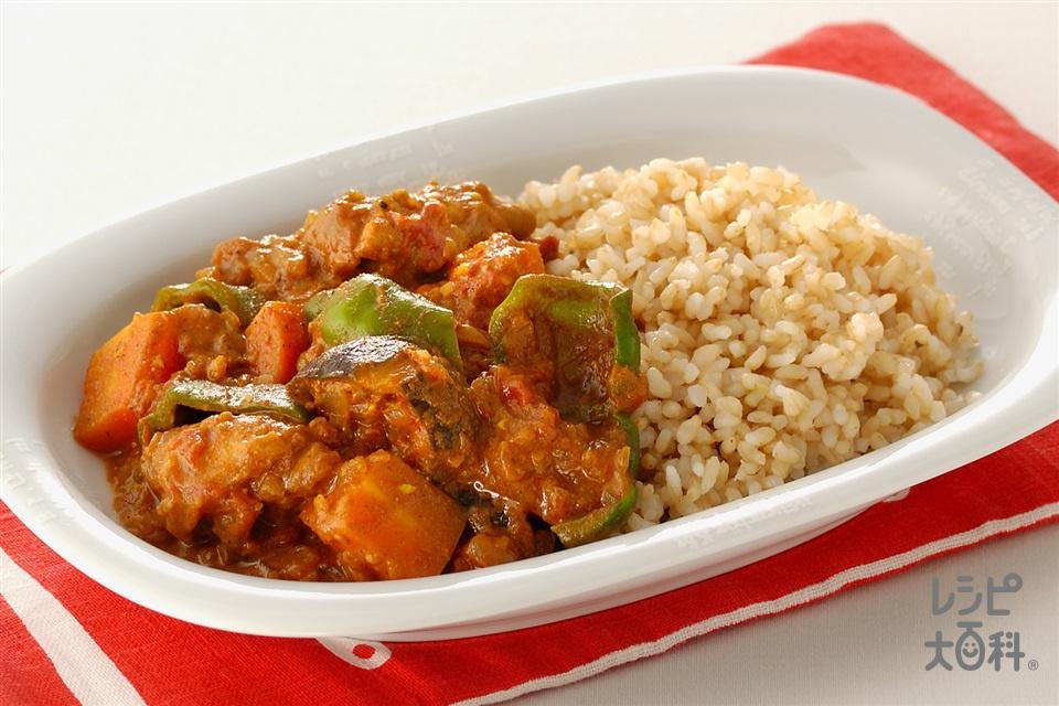 チキンヨーグルトカレー(ホールトマト缶+玄米ご飯を使ったレシピ)