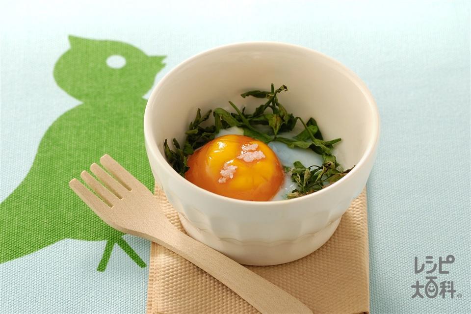 ココット卵(卵+「瀬戸のほんじお」を使ったレシピ)