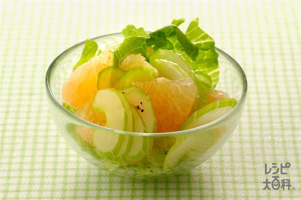 セロリとグレープフルーツのサラダ(セロリ+グレープフルーツを使ったレシピ)