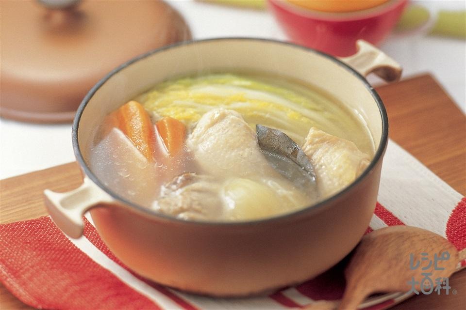 ごろごろ野菜のチキンポトフ(鶏もも肉+白菜を使ったレシピ)