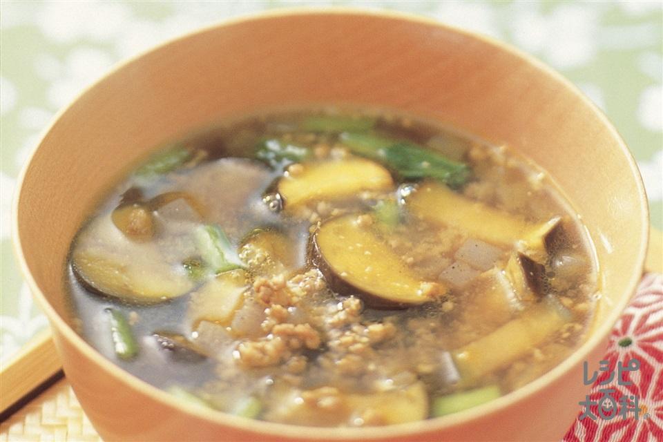 ひき肉となすのおかず椀カレーみそ(豚ひき肉+なすを使ったレシピ)