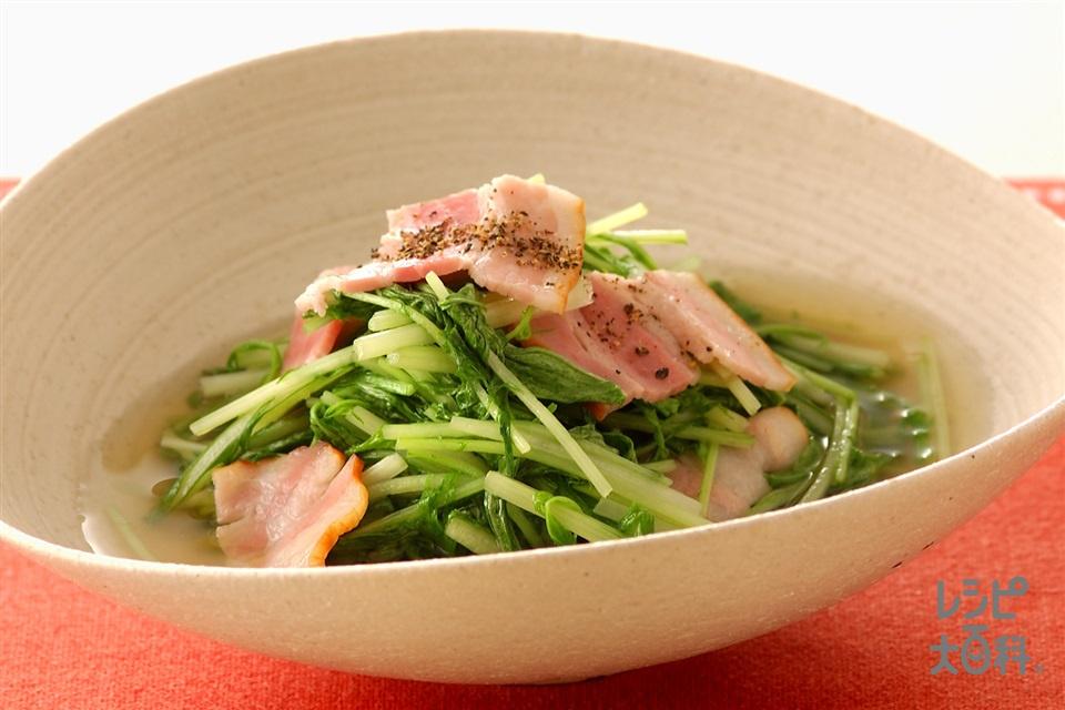 水菜 ベーコン