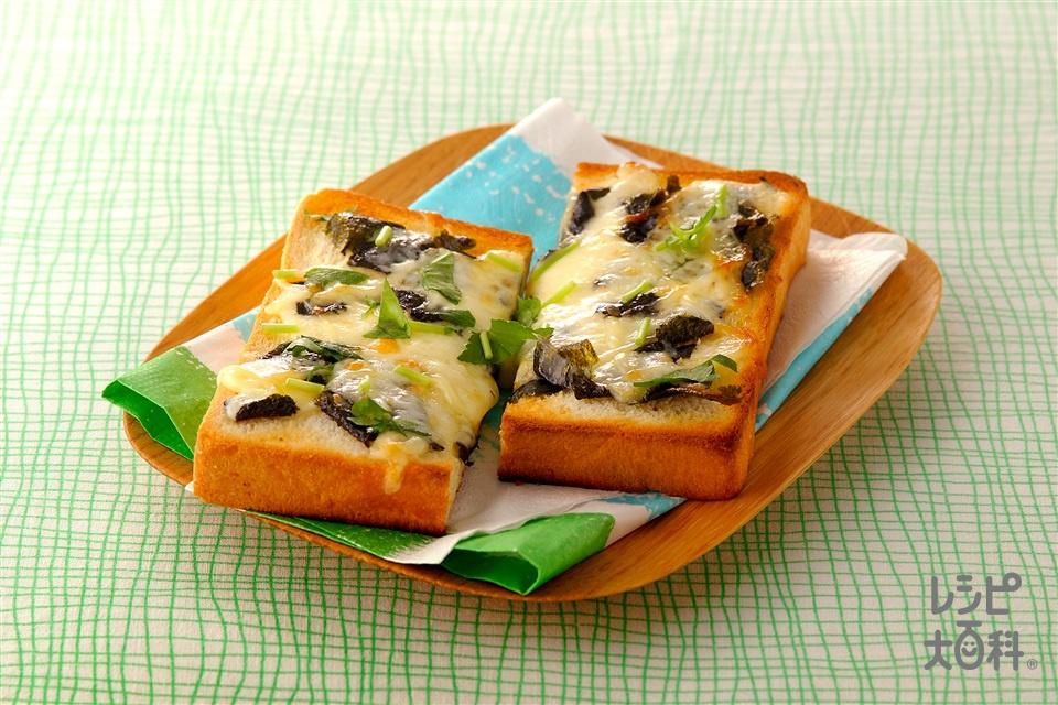のりチーズトースト(食パン+溶けるチーズを使ったレシピ)