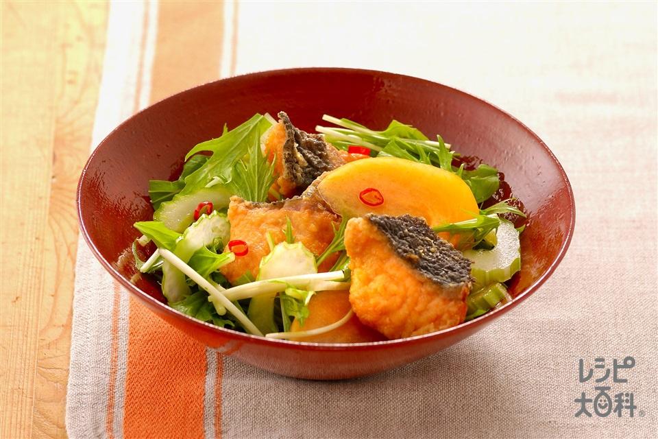 さけの南蛮漬けサラダ風(生ざけ+柿を使ったレシピ)
