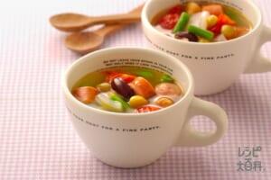 ミックスビーンズのスープ