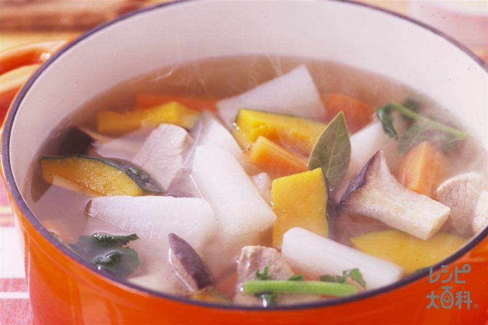 大根deポトフ(豚もも肉+大根を使ったレシピ)