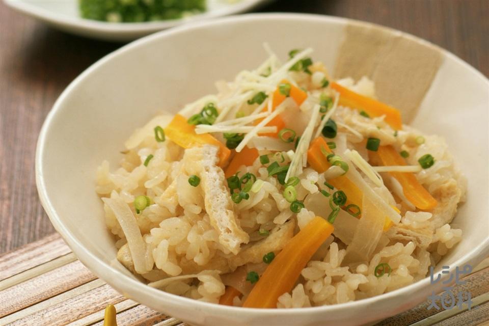 根菜のたきこみごはん(米+A水を使ったレシピ)