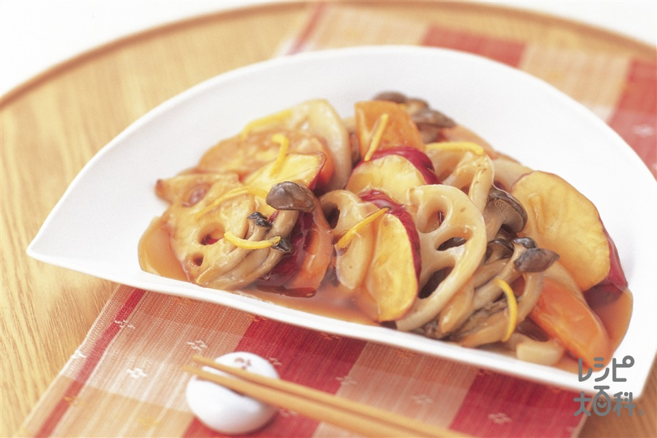 焼き野菜のゆずあんかけ(さつまいも+れんこんを使ったレシピ)
