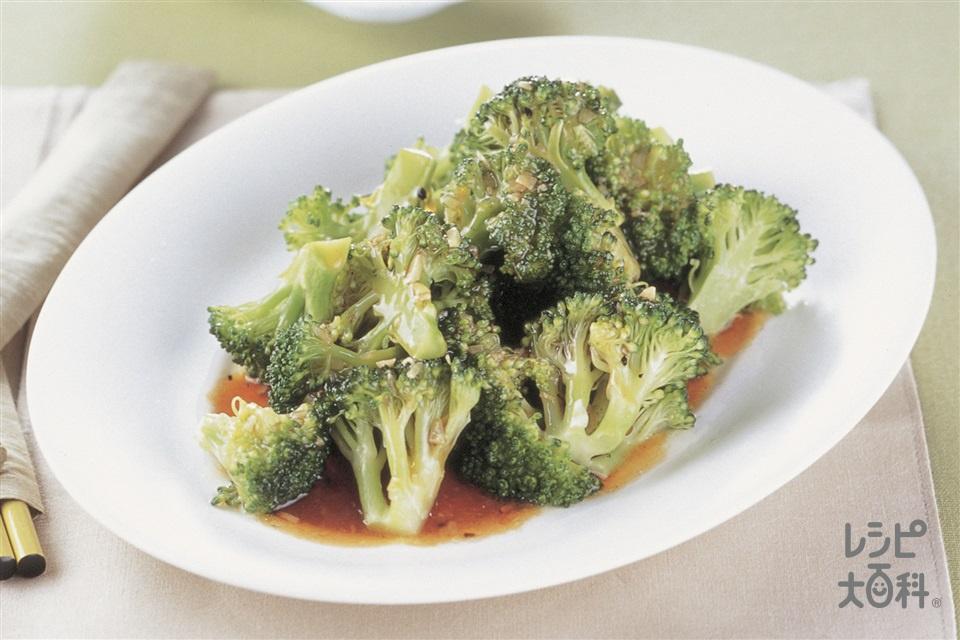 ブロッコリーのオイスターソースかけ(ブロッコリー+にんにくのみじん切りを使ったレシピ)