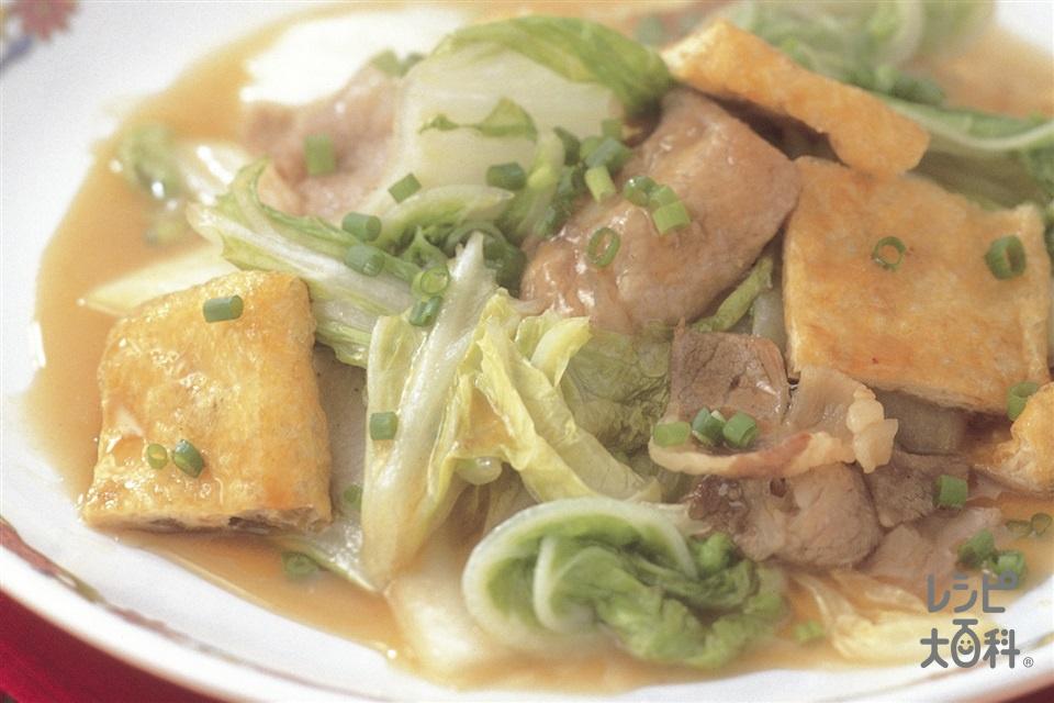 白菜と豚肉の炒めもの(豚ロース薄切り肉+白菜を使ったレシピ)