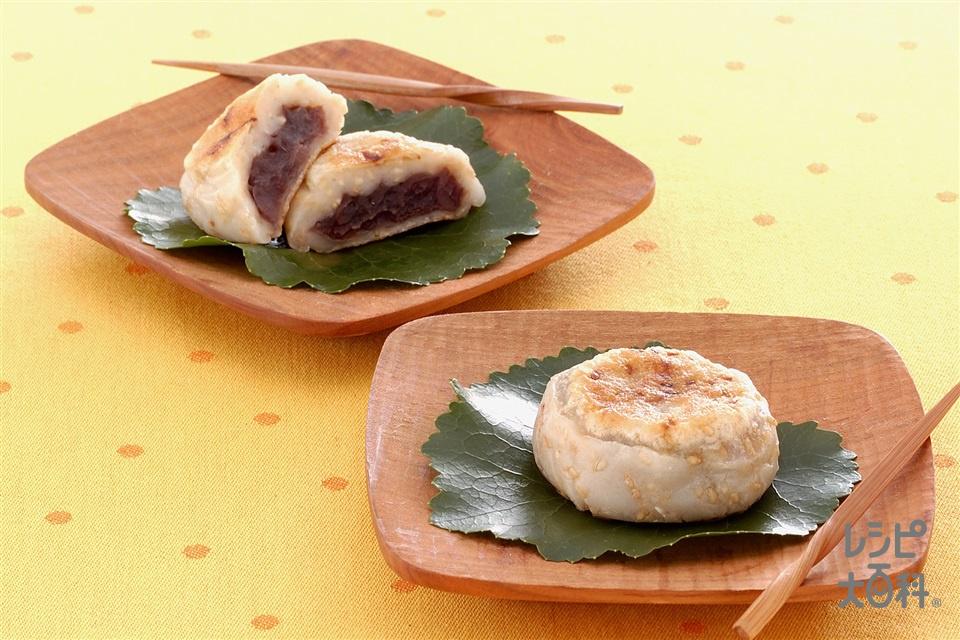 韓国風のゴマおやき(白玉粉+粒あんを使ったレシピ)