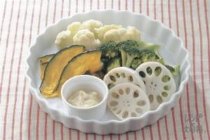 蒸し野菜のアンチョビソース