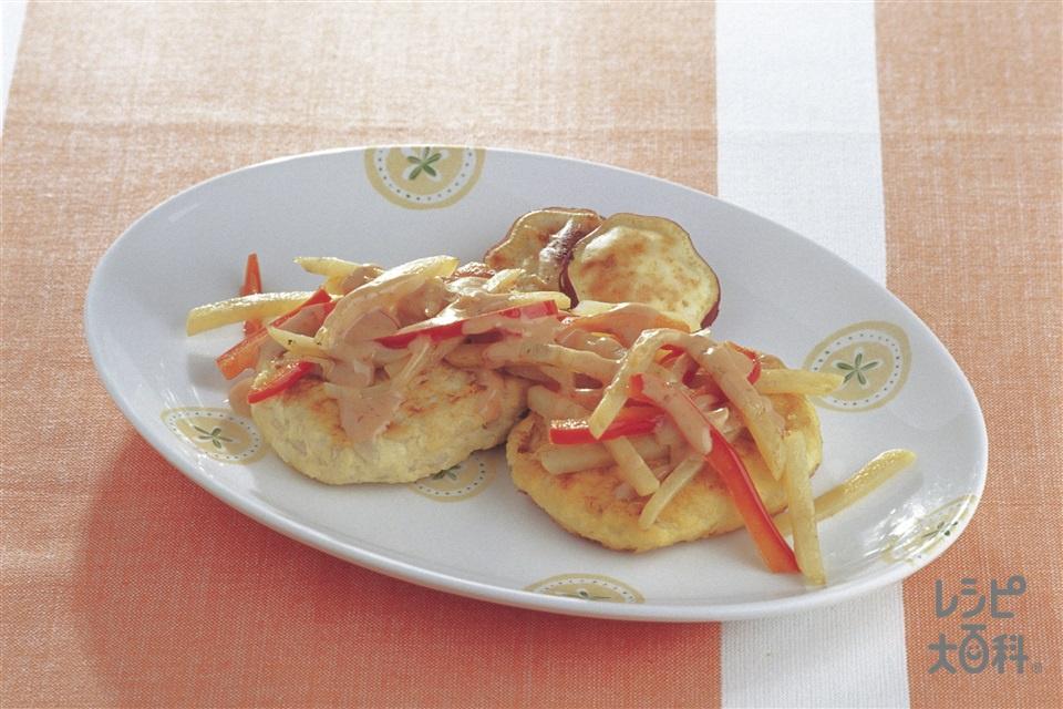 ヘルシートーフバーグ(木綿豆腐+高野豆腐を使ったレシピ)