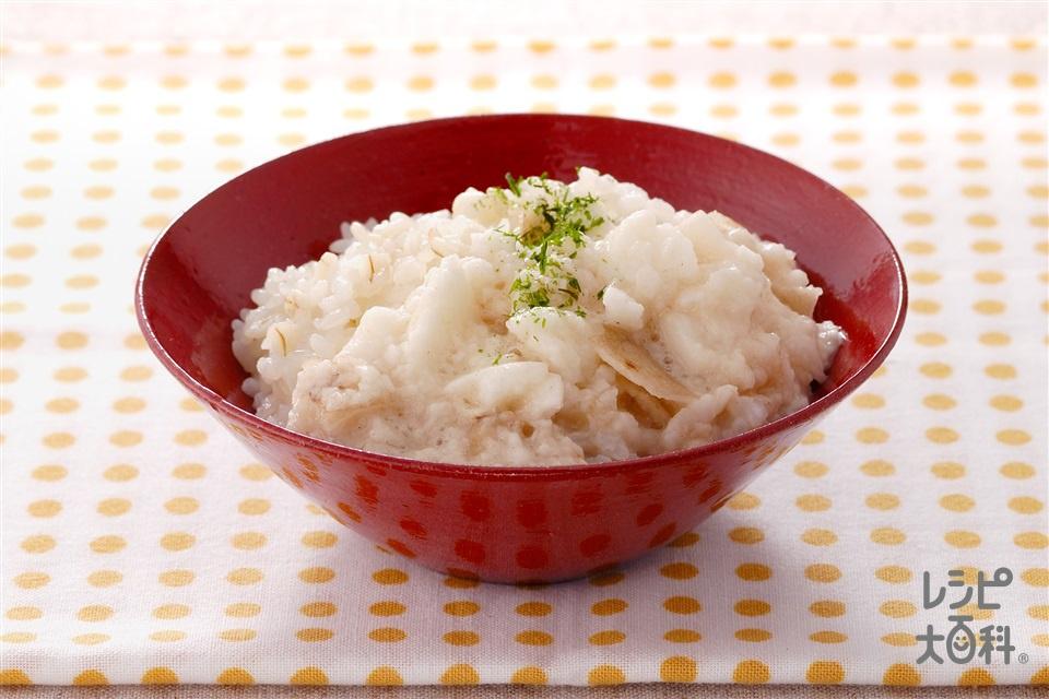さくとろ押麦ご飯(押麦ご飯+長いもを使ったレシピ)