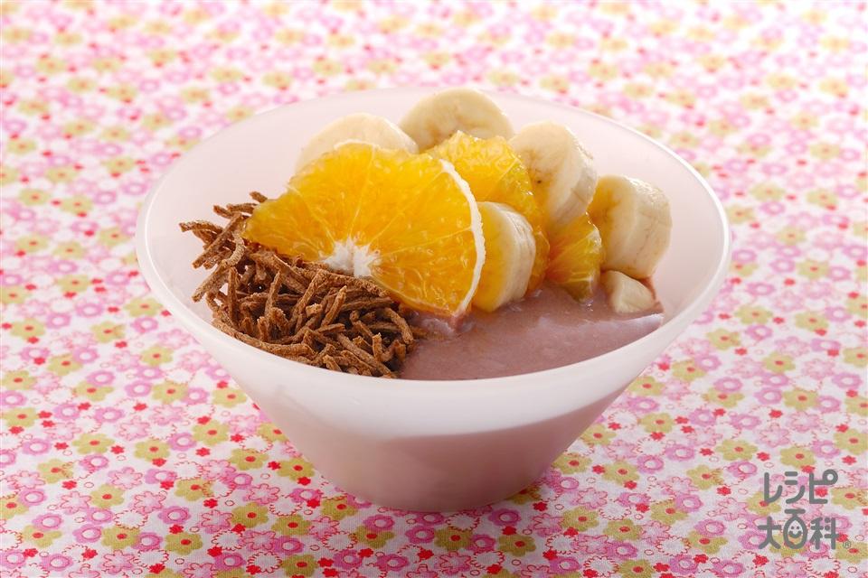 フルーツヨーグルトココアブラン(「ケロッグ オールブラン」+Aプレーンヨーグルトを使ったレシピ)