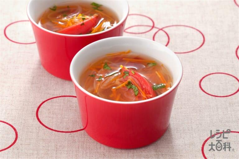 トマトのベジタブルスープ