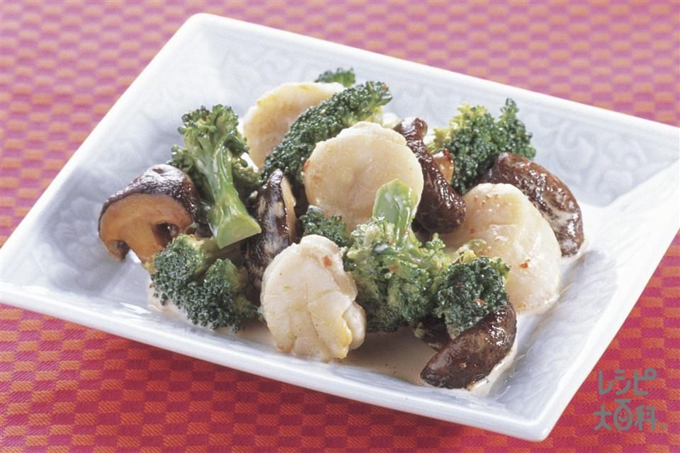 帆立とブロッコリーの中華マヨあえ(帆立貝柱(刺身)+ブロッコリーを使ったレシピ)