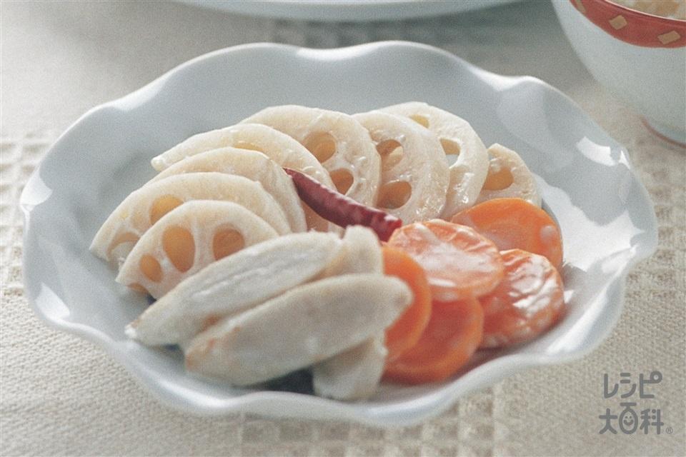 根菜の和風ピクルス(れんこん+にんじんを使ったレシピ)