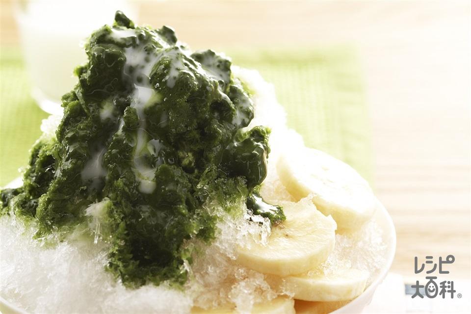抹茶バナナ氷(バナナ+牛乳を使ったレシピ)