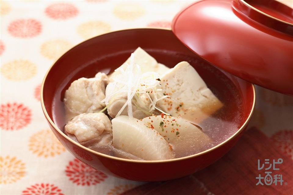 大根と鶏肉のだし煮(大根+鶏もも肉を使ったレシピ)