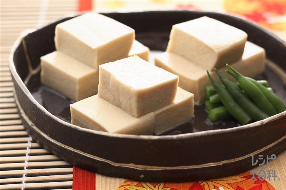 高野豆腐の含め煮(高野豆腐+A水を使ったレシピ)