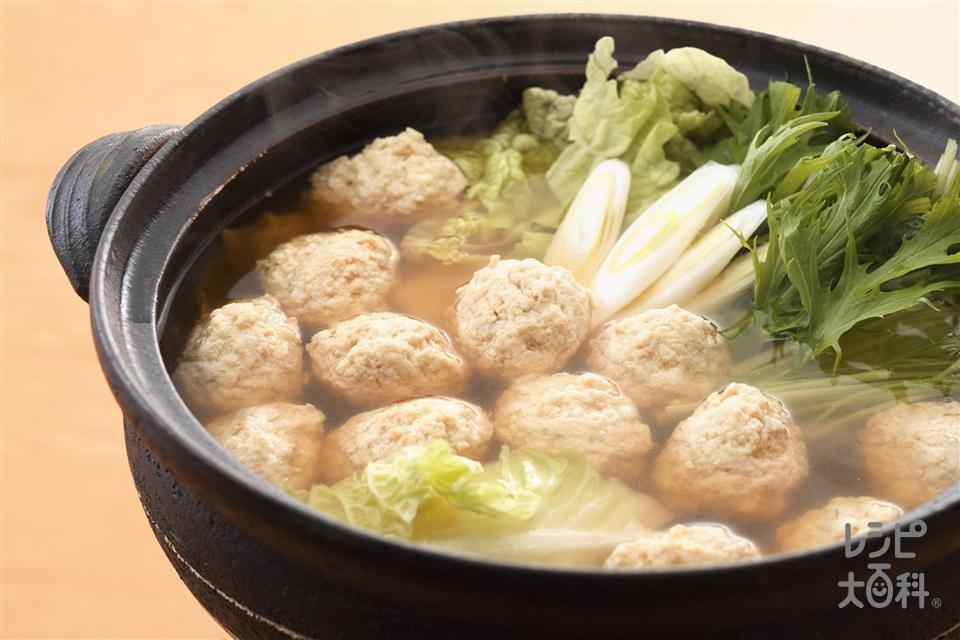 ふんわり鶏だんご鍋(鶏ひき肉+白菜を使ったレシピ)