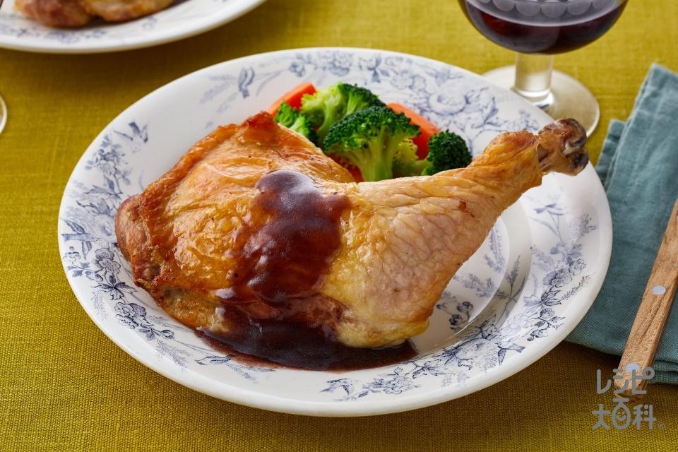 イタリア風ローストチキン(鶏骨つきもも肉+片栗粉を使ったレシピ)