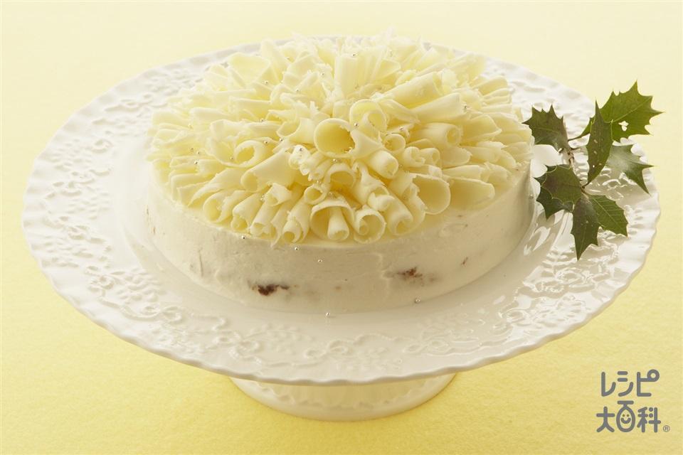 ホワイトクリスマス風チーズケーキ(クリームチーズ+溶き卵を使ったレシピ)