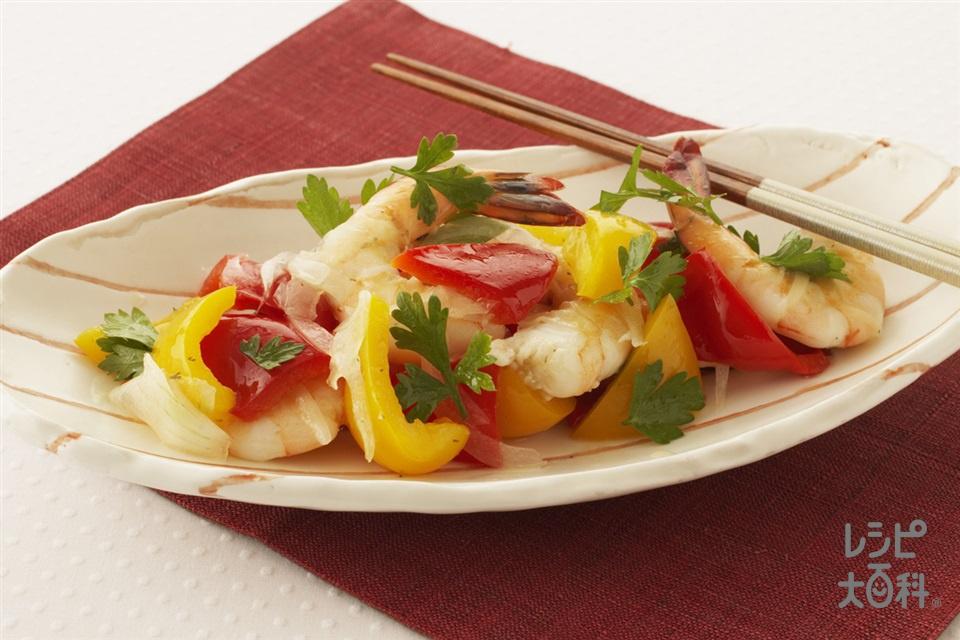 えびのサラダ デリ風(えび+玉ねぎを使ったレシピ)