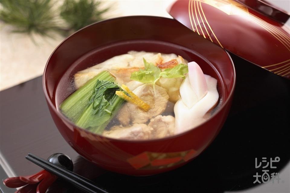 東京のお雑煮(角餅+小松菜を使ったレシピ)