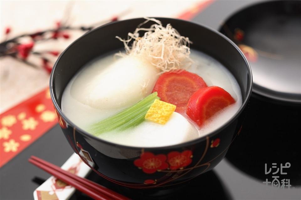 京都のお雑煮(丸餅+京にんじんを使ったレシピ)